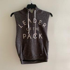 Gym sleeveless hoodie